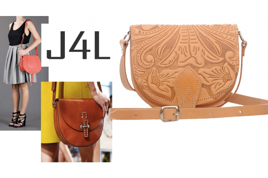 Product of the Week - Dimitri Leather Patterned Saddle Bag