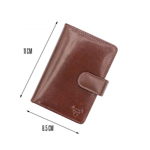 Kenneth Brownne Luxury Brown Hide Leather Credit Card Holder Wallet NEW SALE