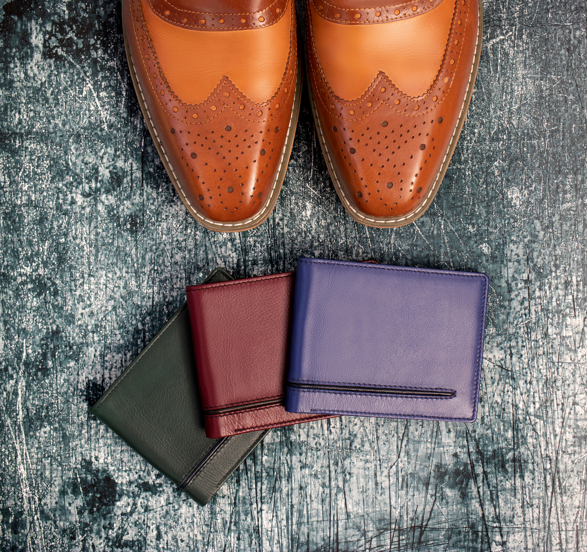 Quinn Men's Colourful leather wallets