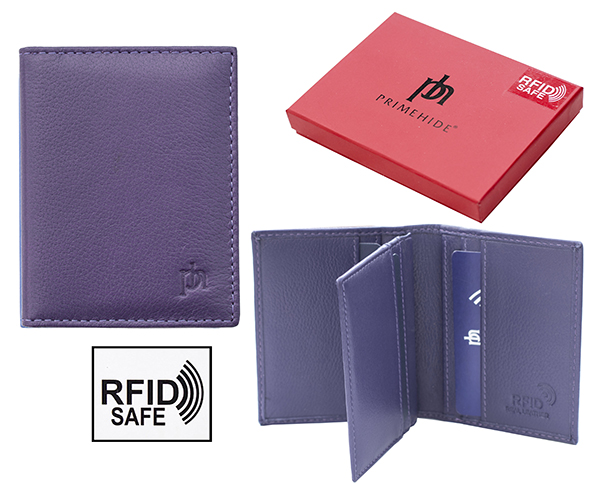 Prime Hide Valentino RFID safe purple credit card holder