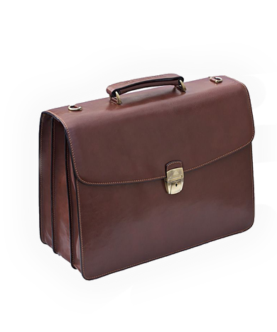 Designer leather briefcases