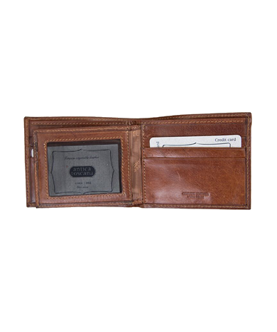 Mens Leather wallet with ID Pouch