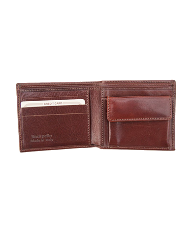 Mens Leather Wallet with Coin Purse
