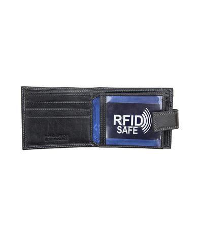RFID Blocking Mens Leather Wallet