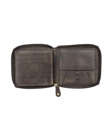 Mens Zip Around Leather Wallet